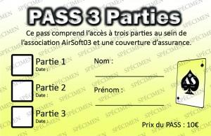 Pass 3 parties - Copie interdite